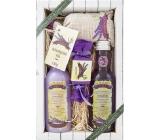 Bohemia Gifts & Cosmetics Lavender s extraktem z bylin a vůní levandule sprchový gel 200 ml + Vlasový šampon 300 ml + Toaletní mýdlo 30 g + Koupelová sůl 150 g, kosmetická sada