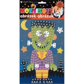 Mozaikový hrací set Halloween zelený mužík 23 x 16 cm