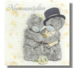 Me to You 3D Envelope Greeting Card Wedding Bears on white pocket 15.5 x 15.5 cm