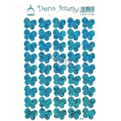 Arch Holographic decorative stickers butterflies blue
