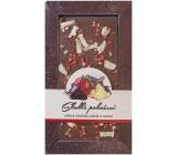 Bohemia Gifts & Cosmetics Sladké pokušení Jahody a ananas Ručně vyráběná mléčná čokoláda 80 g