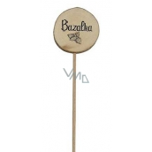 Bohemia Gifts & Cosmetics Wooden cut with herbs - Basil diameter 5 - 8 cm