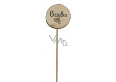 Bohemia Gifts Wooden recess for herbs with print - Basil wheel diameter is 5 - 8 cm