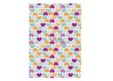 Ditipo packing papers 2pcs 70x100cm - white colored hearts