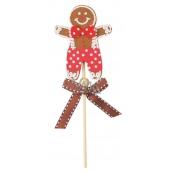 Fingerbread from felt stick figure red bow tie recess 9 cm + skewers