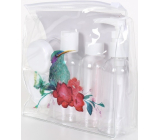 Albi Original Travel Bottle Set 3 x 80 ml + 2 cups + Kingfisher pouch - 15 cm x 15 cm x 4.5 cm