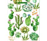 Nekupto Gift paper bag medium 18 x 23 x 10 cm Cactuses 1882 50 KFM