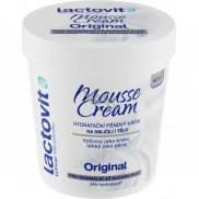 Lactovit Original Mousse Cream moisturizing foam cream for face and body for normal to dry skin 250 ml