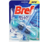Bref Blue Aktiv Eucalyptus WC block for hygienic cleanliness and freshness of your toilet, color water to blue shade 50 g