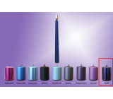 Lima Candle smooth metal lilac cone 22 x 250 mm 1 piece