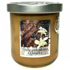Heart & Home Sandalwood and vanilla Soy scented candle medium burns up to 30 hours 115 g