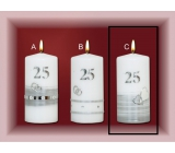 Lima Jubilee 25 Year Candle Silver Wedding Motif C, 70 x 150 mm 1 piece