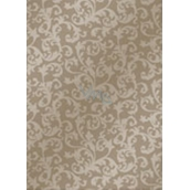 Ditipo Christmas wrapping paper light brown lace pattern 100 x 70 cm 2061002 2 pcs