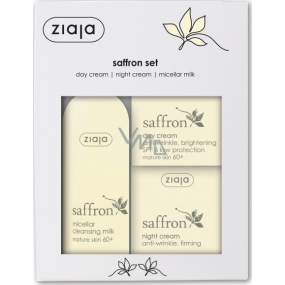 Ziaja Šafrán - Safrron 60+ denní krém 50 ml + noční krém 50 ml + micelární mléko 200 ml, kosmetická sada