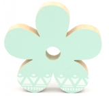 Nekupto Home Decor Wooden decoration flower green 11 cm