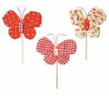 Butterfly cloth recess 8 cm + skewels