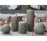 Lima Ice candle gray ball 100 mm 1 piece