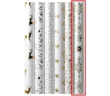 Zöllner Christmas Luxury wrapping paper with embossing White white - gold snowflakes 1,5 mx 70 cm