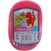 Abella Kids Beny bath sponge 11 x 7 x 4 cm different colors 1 piece