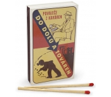 Nekupto Original matches in retro style Povalec from cafes to mines and factories 45 pieces