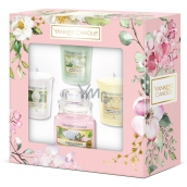 Yankee Candle Garden Hideaway Sunny Daydream - Sunny day dreaming scented candle Classic glass 104 g + Camellia + Afternoon escape + Homemade herb lemonade votive candle 3 x 49 g, spring gift set