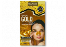 Beauty Formulas Gold gold cleansing tapes for the nose with collagen and hazelnut 6 pieces
