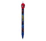 Colorino Rubber pen Marvel Spiderman blue, blue refill 0.5 mm