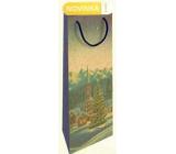Nekupto Gift kraft bottle bag 15 x 40 cm Winter landscape Christmas WHLH