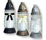 Rolchem Glass lamp black, gold, silver 23 cm 32 hours 65 g Z-11 1 piece