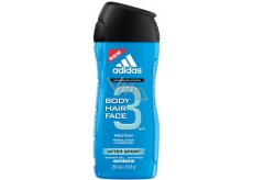 Adidas After Sport 3in1 250 ml men's shower gel for body, hair and face