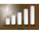 Lima Gastro smooth candle white cylinder 70 x 300 mm 1 piece