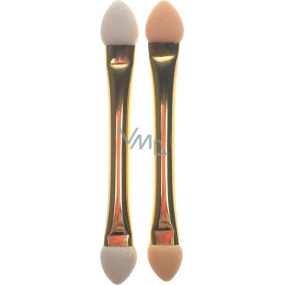 Eyeshadow applicator double sided gold 6.5 cm 2 pieces 80060