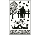 Room Decor Stickers for light switch silhouettes in the park No.1 24 x 15 cm