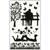 Room Decor Stickers to switch silhouettes in the park No.1 24 x 15 cm