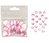 Self adhesive hearts pink 2 cm 20 pieces