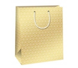 Ditipo Gift paper bag gold, white ornaments 26,4 x 13,6 x 32,7 cm