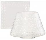 Yankee Candle Belmont Sandblasted on Glass shade small 8 x 9 cm + plate small 9 x 9 cm for candle small Classic