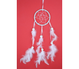 Dream catcher with feathers white 35 cm