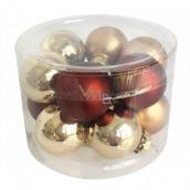 Flasks brown glass set 2 cm, 12 pieces