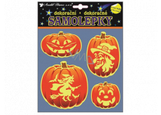 Halloween stickers glowing in the dark pumpkin 23 x 18 cm