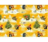 Nekupto Christmas wrapping paper Mole yellow 70 x 200 cm 1 roll
