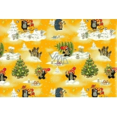 Nekupto Gift wrapping paper 70 x 200 cm Christmas Mole yellow 1 roll