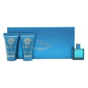 Versace Eros pour Homme eau de toilette 5 ml + shower gel 25 ml + aftershave 25 ml, gift set