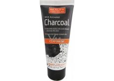 Beauty Formulas Charcoal Clay Mask jílová maska s aktivním uhlím na obličej a krk 100 ml