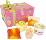 Bomb Cosmetics Exotic - Totally Tropical ballistic 160 g + block 50 g + soap 2x100 g + body butter 200 ml, cosmetic set