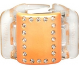 Linziclip Midi Hair Pendant Pearly Peach with 3.5 cm Crystals Suitable for Medium Thick and Thick Hair 1 Piece