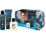 Dermacol Men Agent Gentleman Touch shower gel for men 250 ml + deodorant spray 150 ml + aftershave 100 ml + case, cosmetic set