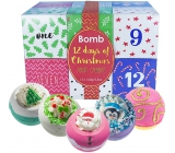 Bomb Cosmetics 12 days to Christmas Advent calendar 12 holidays mix of ballistics with a Christmas theme 12 x 160 g, cosmetic set