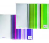 Donau Envelope with zipper A4 stripes purple 25 x 33 cm