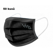 Shield 3-layer protective medical non-woven disposable, low breathing resistance 50 pieces black